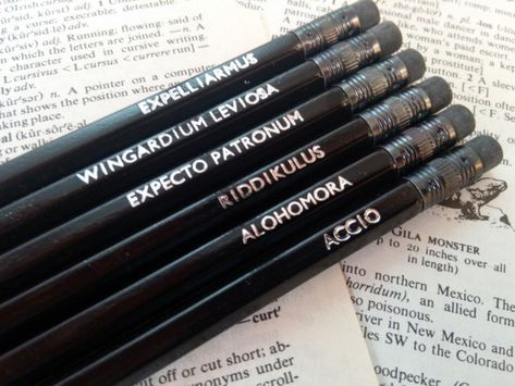 """These pencils with spells on them:   Community Post: 19 Magical Gifts For People Who Love """"Harry Potter"""""""