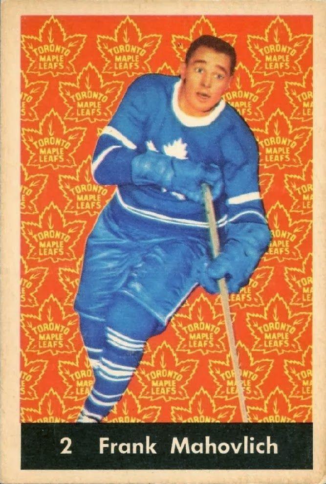 frank mahovlich 1961-62 parkhurst hockey card toronto maple leafs