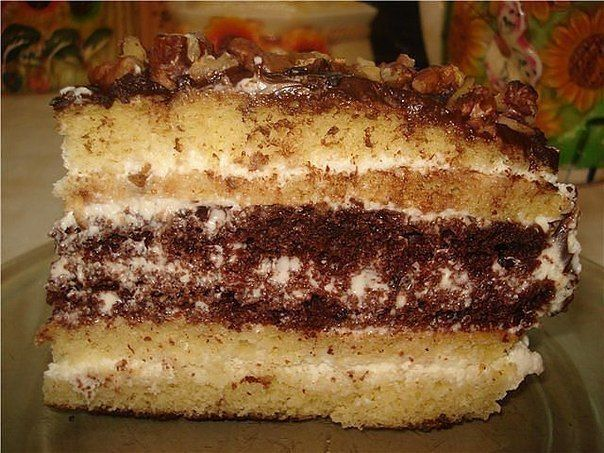 Cake 'Sour Cream'  Ingredients: For the dough: butter or margarine - 100 gr.  eggs - 2 PCs. condensed milk - 1 Bank soda (slaked) - 1H. L. flour - 8 tbsp. cocoa - 1 tbsp For the cream: sour cream 20% - 600 - 700 gr. sugar - 100 gr.  Preparation: 1. The softened butter connected with eggs, beat 2. Add ... - Check more at http://recipesworthsharing.com/2016/04/04/cake-sour-cream/