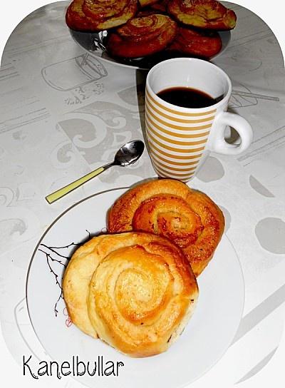 Kanelbullar ou petites brioches suédoises à la cannelle