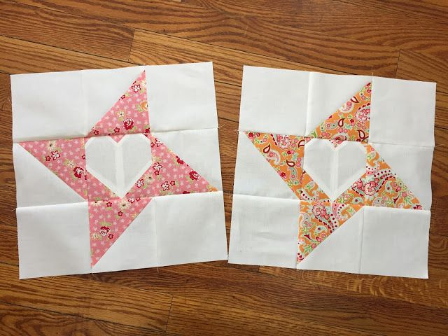 """I would like these as a 6"""" block.  For the last three years, I have been part of an online bee called Sew Sweet Bee. February is my turn to be Queen Bee. =) This is the block..."""
