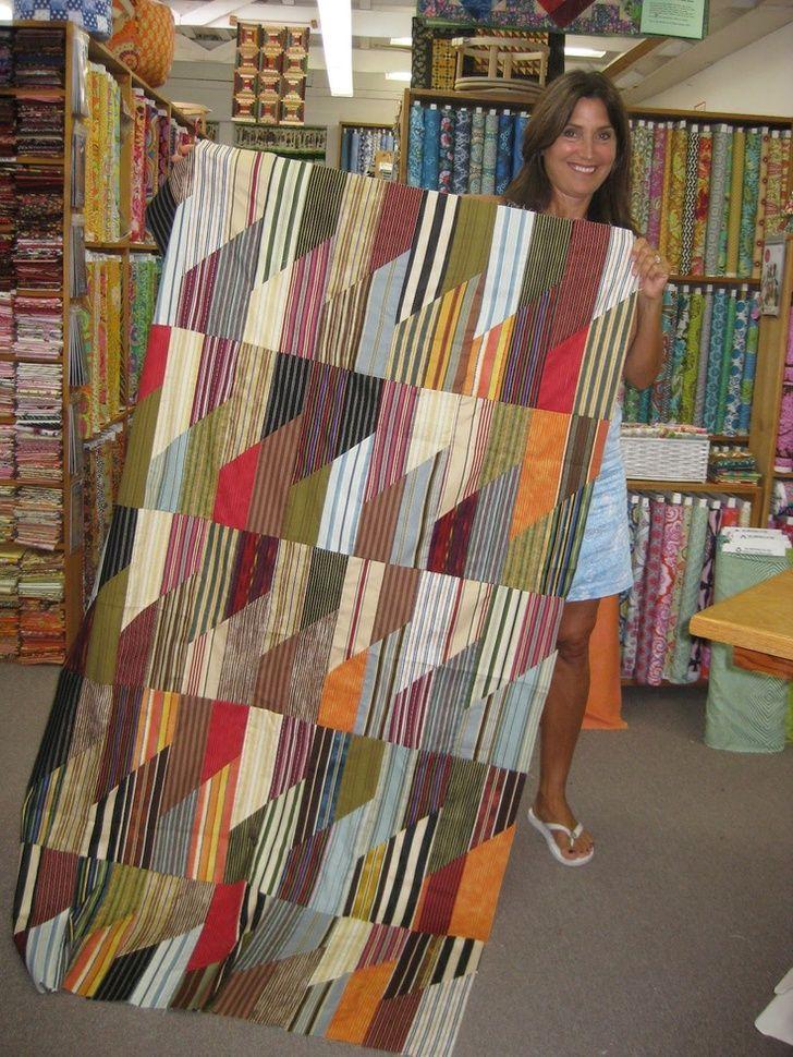 Fun striped quilt!