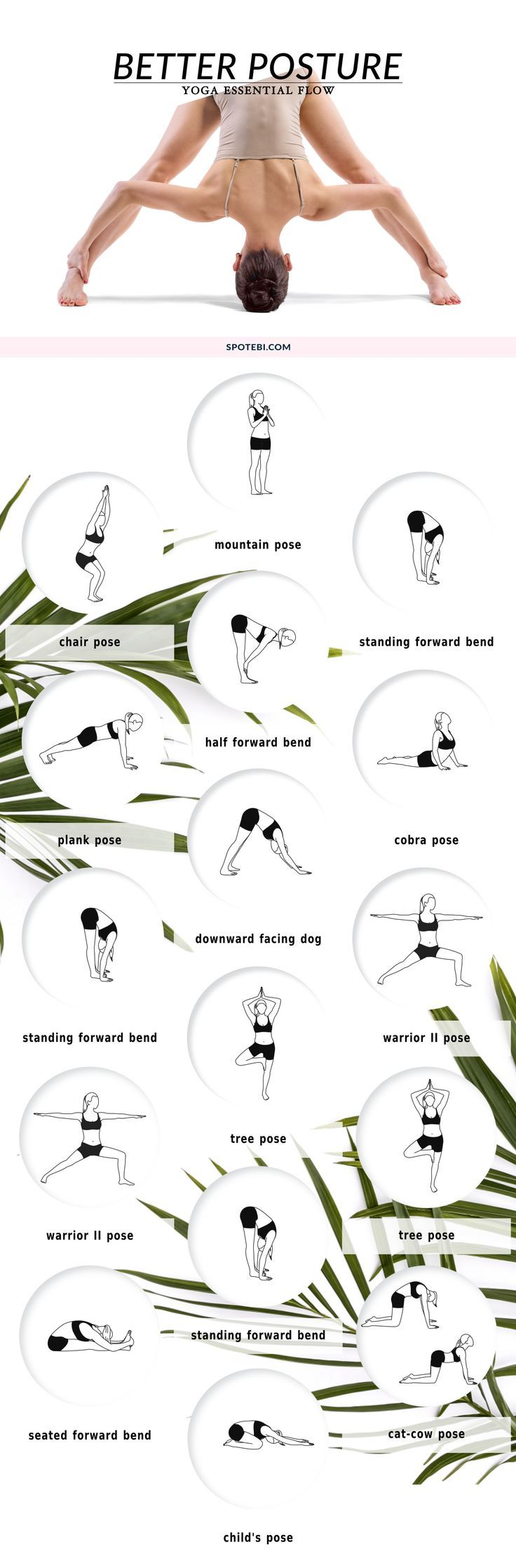 Try these yoga corrective poses to strengthen and stretch your back muscles and improve spinal alignment! This 10 minute yoga flow is designed to help you stand tall and become aware of your posture. For more Yoga you can check our Yoga course.