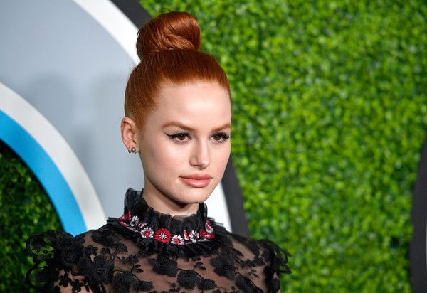 Updos Lookbook: Madelaine Petsch wearing Hair Knot (16 of 17). Madelaine Petsch swept her hair up into a tight knot for the 2017 GQ Men of the Year party.