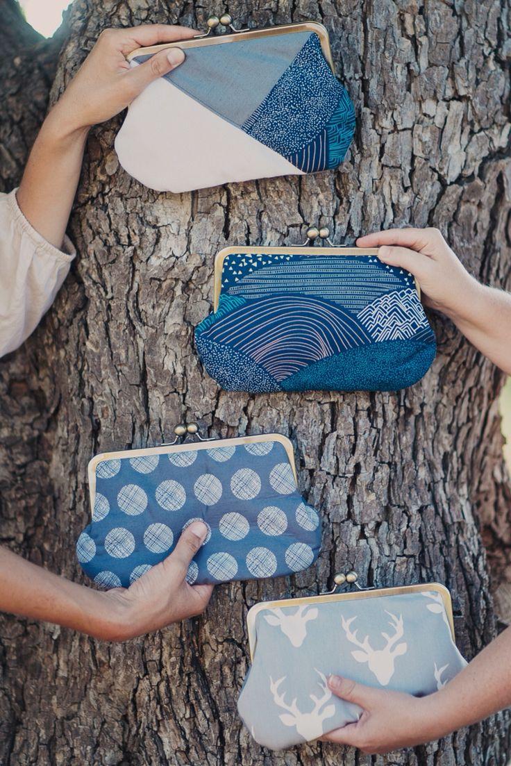 Pikulabags clutch purses . Handmade. Vegan.