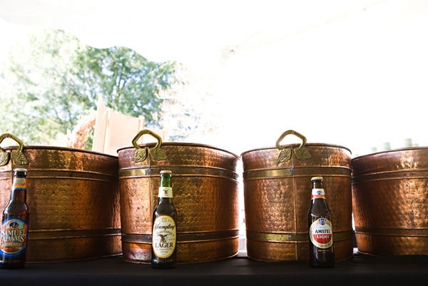 simple but lovely beer buckets, great idea for outside reception
