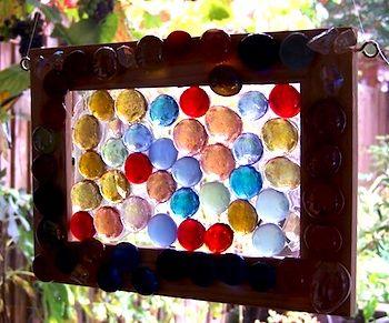 Sun catcher project. Cheap craft that all ages can do.  http://glitteringshards.com/2009/making-mosaics-with-children-part-six-suncatchers/