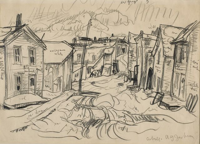 A Y Jackson  Sketch, Cobalt, ON