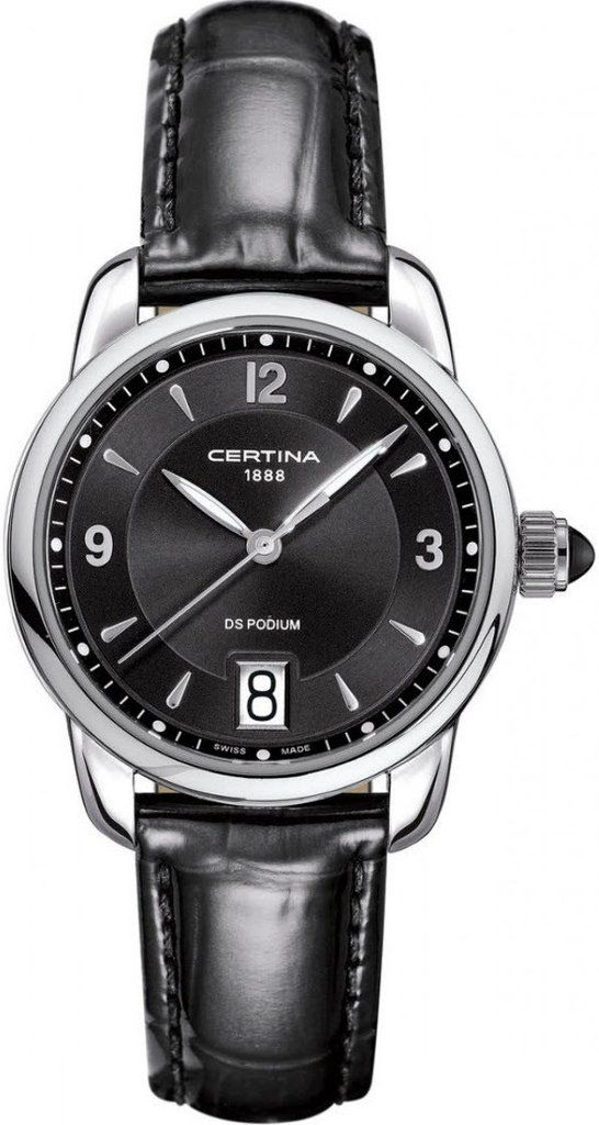 Certina Watch DS Podium Lady Quartz #bezel-fixed #bracelet-strap-leather #brand-certina #case-material-steel #case-width-32-5mm #date-yes #delivery-timescale-7-10-days #dial-colour-black #gender-ladies #luxury #movement-quartz-battery #official-stockist-for-certina-watches #packaging-certina-watch-packaging #style-dress #subcat-ds-podium #supplier-model-no-c025-210-16-057-00 #warranty-certina-official-2-year-guarantee #water-resistant-100m