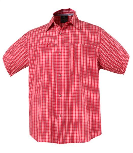 Checked short sleeved bamboo shirt that looks great and feels just as good. It's made of 70% bamboo and 30% cotton so it's soft against the skin whilst being breathable and antibacterial. Regular fit and stardard no-fuss design that features a button up front, chest pockets with zip closure, and side split detail at hem make the shirt versatile. An easy go-to wear for any occasion!