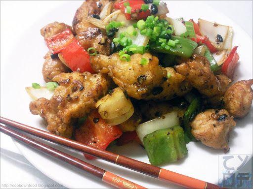 Deep-Fried Pork Chops with Black Beans | Жареные свиные ломтики с черными бобами (豆豉炸豬肉)