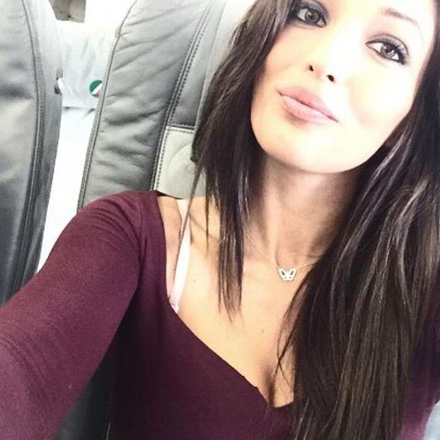 Selfie in aereo