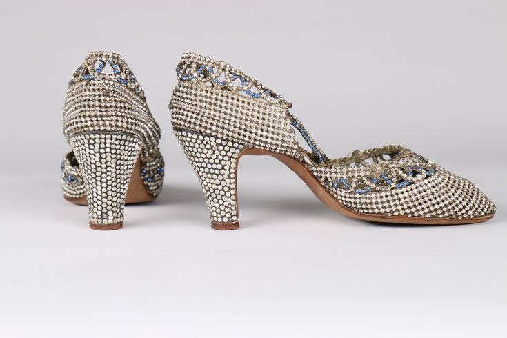 Dance Shoes (image 3) | late 1920s | rhinestones, paste stones | Kerry Taylor Auctions | June 14, 2016
