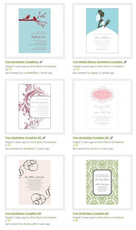 Free Invitation Template Weddingbee DIY Projects 450x761 おしゃれな手作り招待状!無料テンプレート(PDF・DOC) Free Style