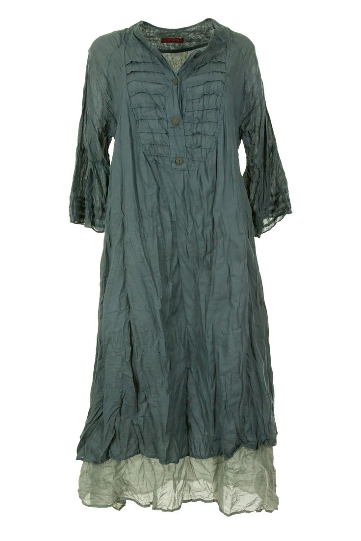 Namastai dresses buy online Button Front Double Layer Dress - Womens Knee Length Dresses - Birdsnest Australia