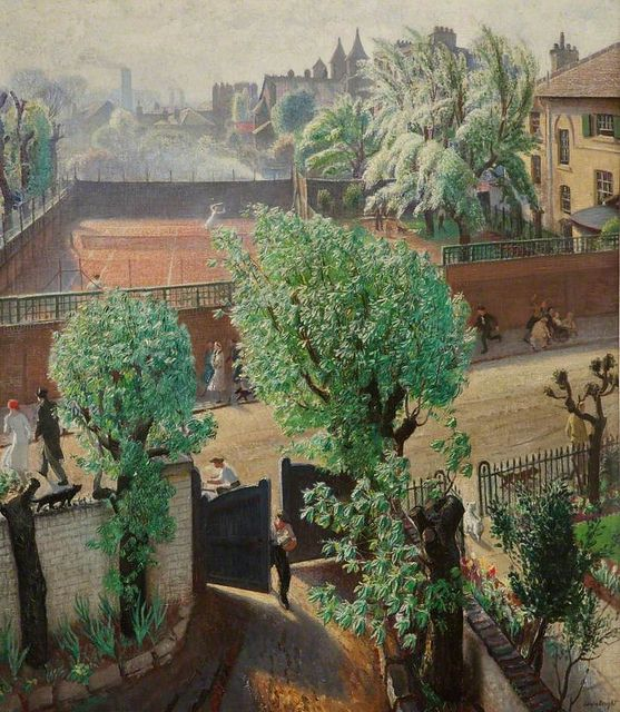 Dame Laura Knight (English, 1877-1970)  -Spring in St Johns Wood, London