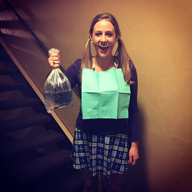 Halloween Costume winner: Darla from Finding Nemo!