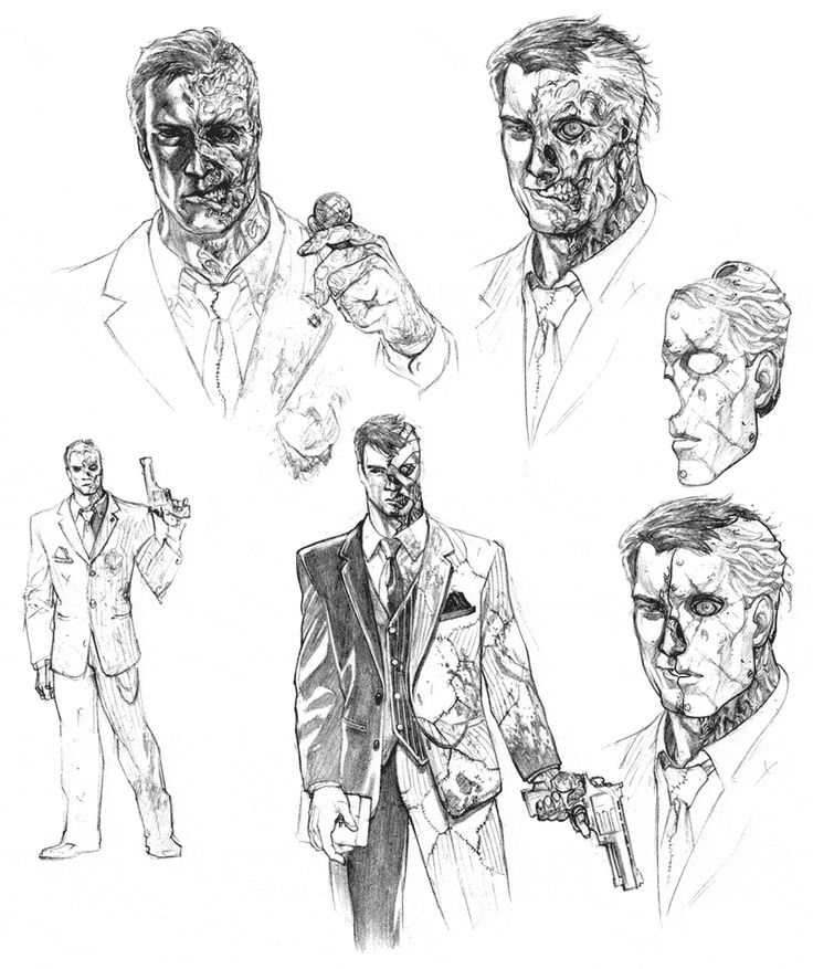Batman: Arkham City - Two-Face Sketches | Comic Book ...