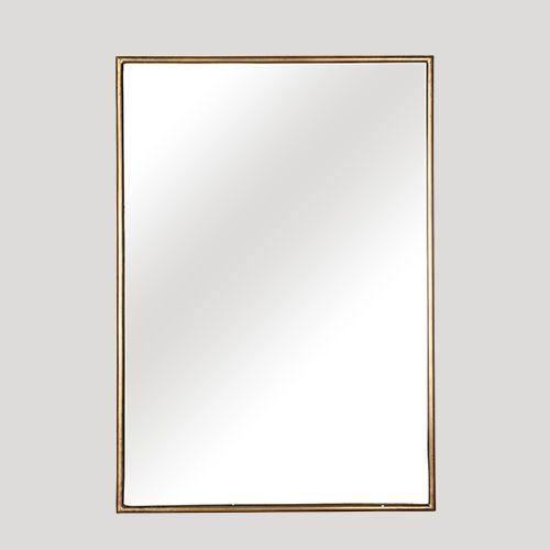 Beautiful simple gold framed mirror - elegant and stylish.