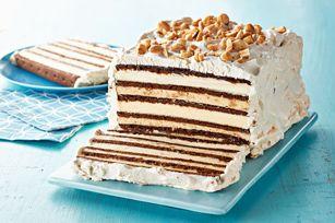 Chocolate-Peanut Butter Ice Cream Sandwich Cake recipe