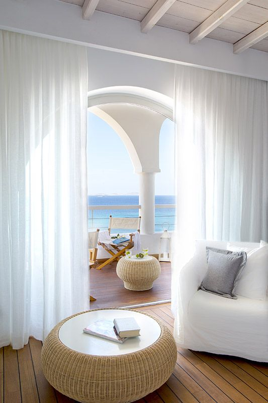 A sea view suite at the luxurious Grace Hotel in Mykonos, Greece