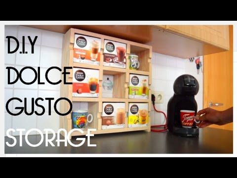 DIY dolce gusto storage - YouTube