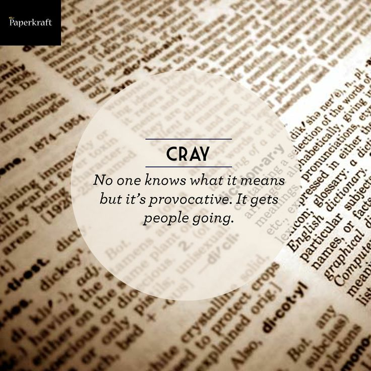 #Dictionary #word #cray #DidYouKnow