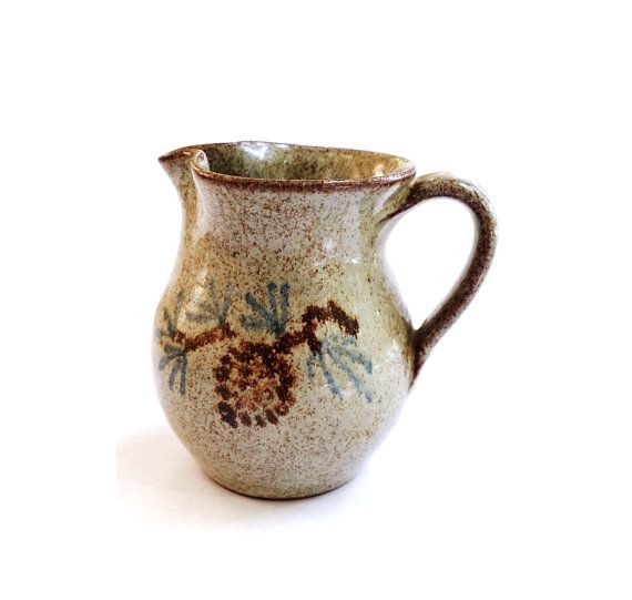 Clay Pottery Handturned Pitcher / Old Time Pottery by GardarAntik