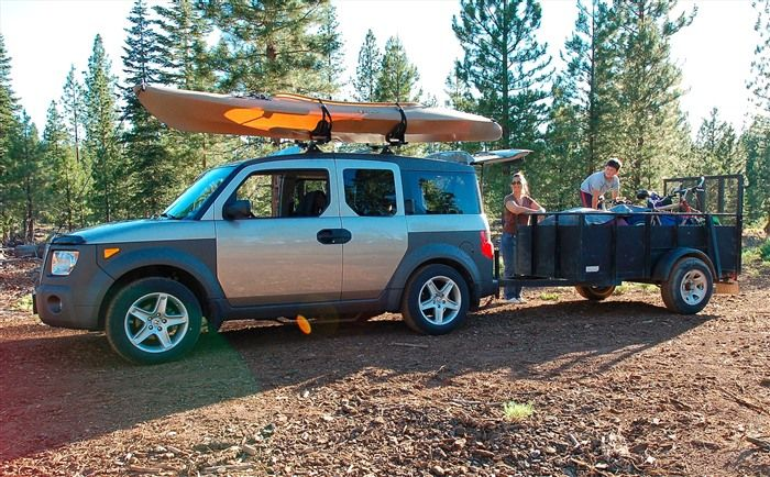 Towing With An Element Honda Element Honda Element Camping Honda Element Camper