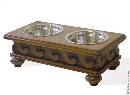 Купить Подставка под миски. Мебель для собак и кошек - коричневый, для собак, для кошек, аксессуары для собак