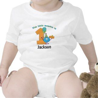 Little Monster Kids 1st Birthday Personalized Shirt