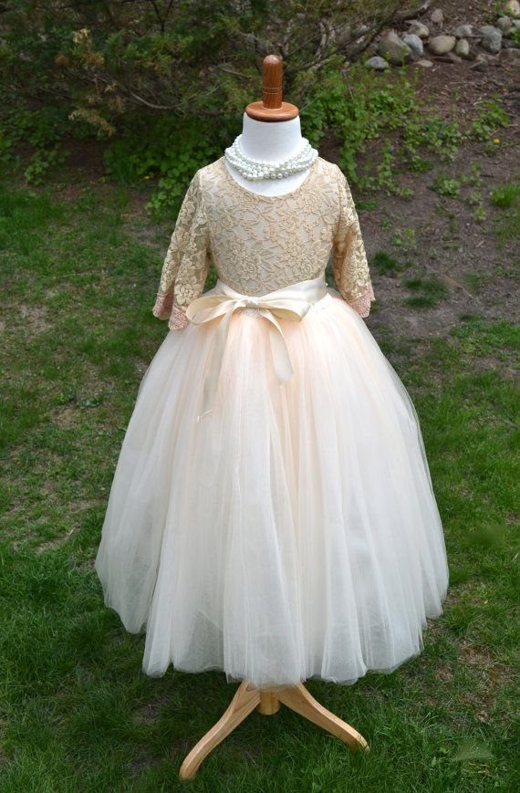 This couture quality flower girl ensemble will make your wedding extra special…