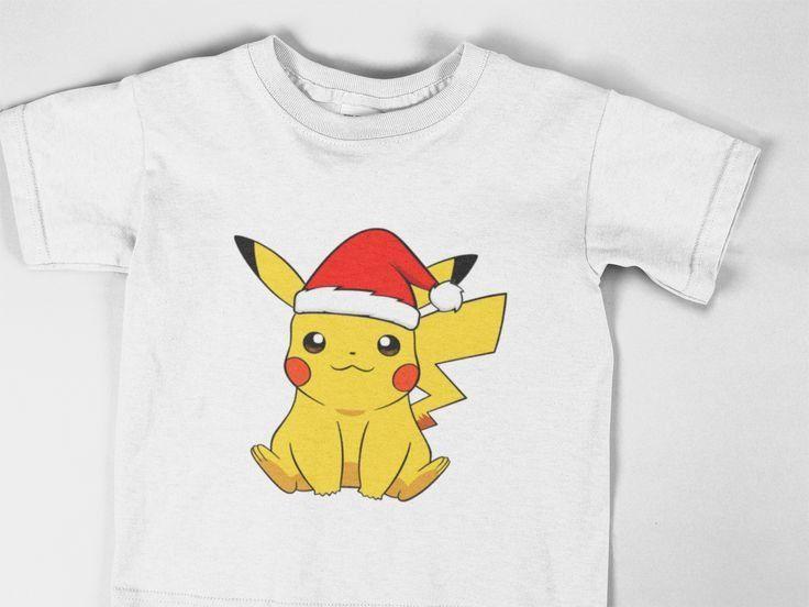 Pikachu Christmas Shirt Santa Hat Pikachu Pokemon Shirt Toddler Tshirt Unisex Kids Shirt By Shopbabydesign O Pokemon Shirts Toddler Tshirts Christmas Shirts