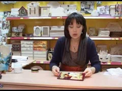 Декупаж шкатулки переводной картой Фридекор, использование фацетного лака, бейца - YouTube