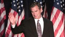 "Profanity is now a reason George W. Bush  2000: Then-Texas Gov. George W. Bush, running in the 2000 presidential race, was caught on a live microphone tearing into New York Times reporter Adam Clymer. At a Labor Day 2000 rally in Naperville, Illinois, Bush called him a ""major-league a--hole."" to fire reporters/avg ppl...but once upon a time...: tzleft.bushswear.jpg"