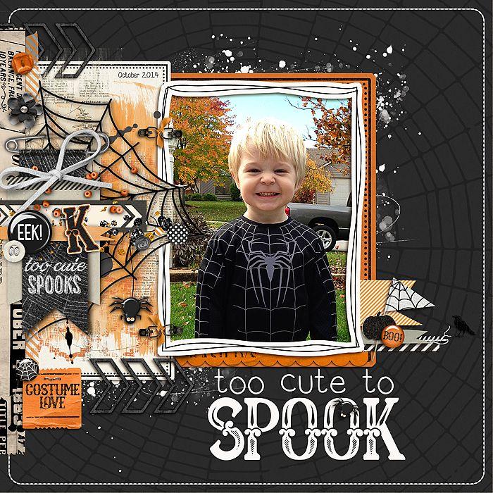 Too Cute to Spook - #Digital #Scrapbook Ideas at #DesignerDigitals
