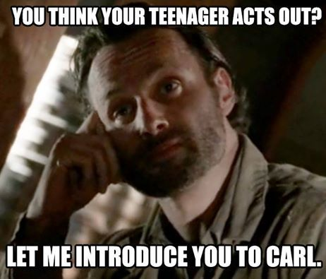 Walking Dead zombies LOL meme funny Rick Grimes Carl