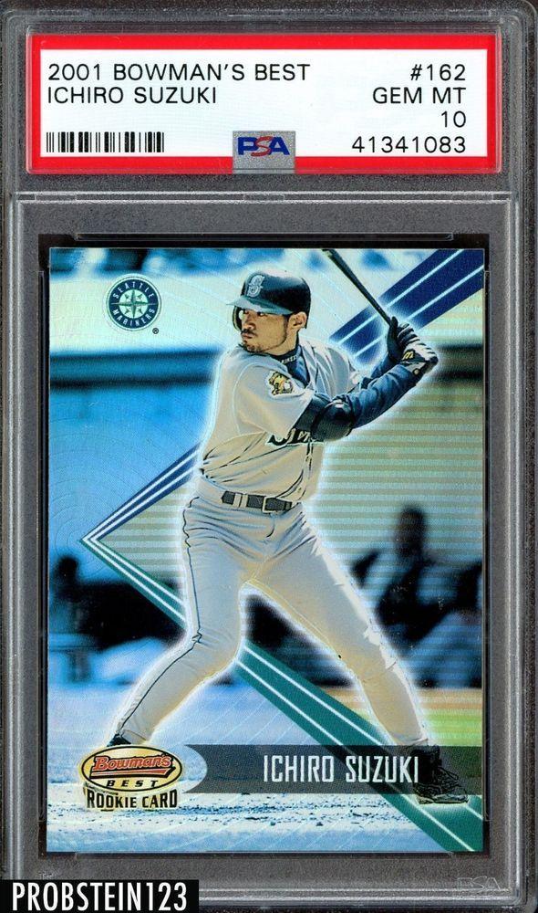 2001 Bowmans Best Ichiro Suzuki Seattle Mariners Rc Rookie