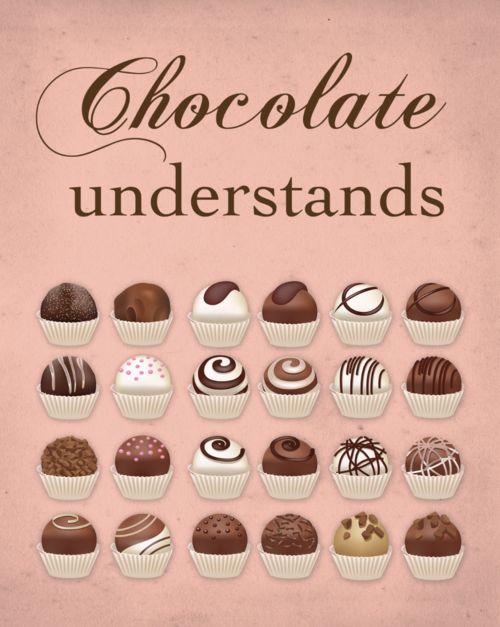 Chocolate understands, Nauvoo LDS Mormon Quote Art