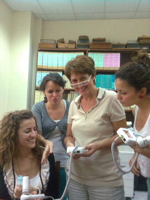 Spirometry training with hand-held spirometer Spiropalm at University of Athens (Greece), Dept. of Hygiene, Epidemiology and Medical Statistics