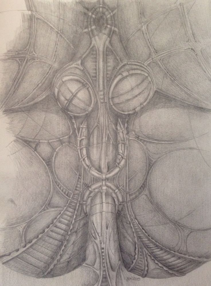 H.R. Giger based drawing.