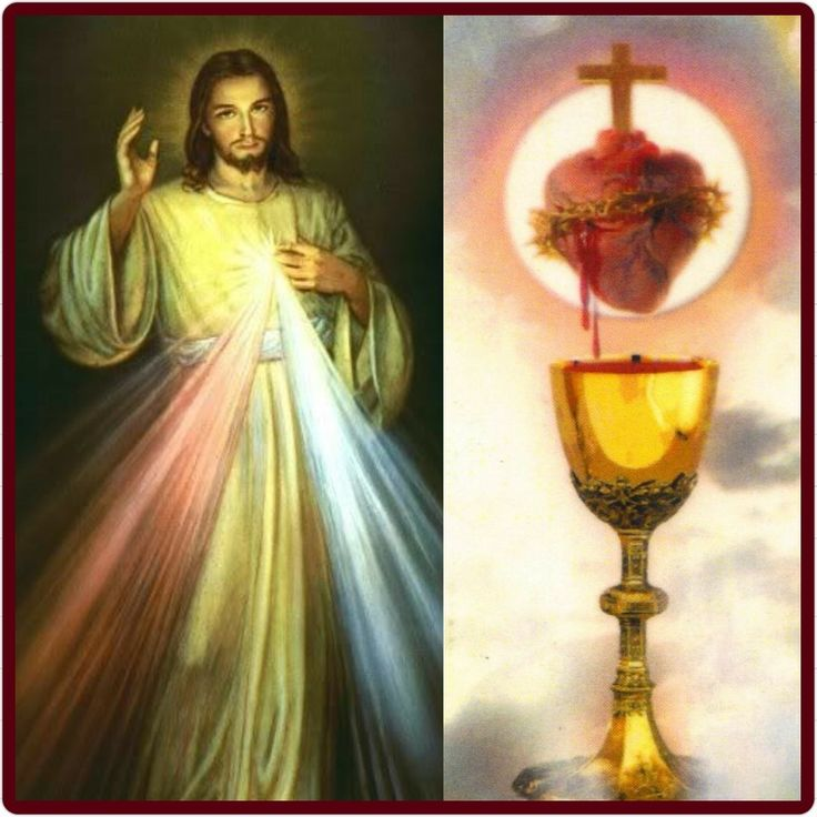 Divine Mercy & His Sacred Heart with His Precious Blood