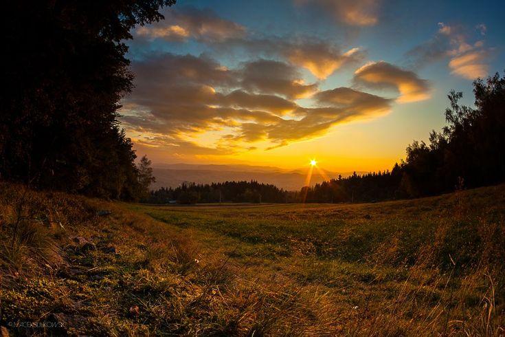 Beskidzki zachód słońca... by Maciek Sulkowski