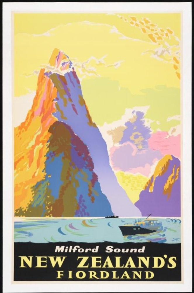 Mallitte, Howard Leon, 1910-1979 :Milford Sound, New Zealand's Fiordland. [1960s]