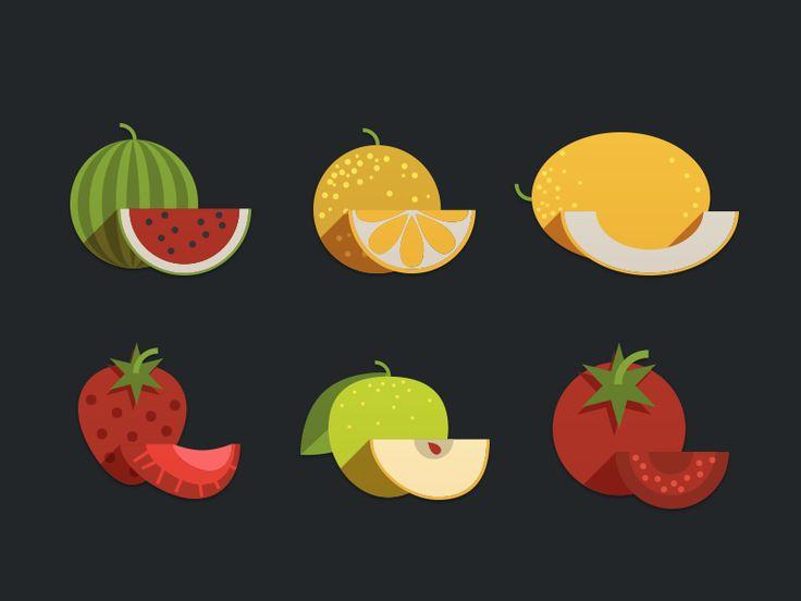 Fruits Icon by Nick Zhukov