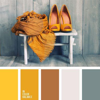 amarillo soleado, amarillo vivo, anaranjado claro, color amarillo limón, color amarillo suave, color gris, color mandarina, color naranja, colores suaves, elección del color, gris oscuro, marrón y amarillo, matices cálidos y fríos, matices del gris azulado, tonos amarillos.
