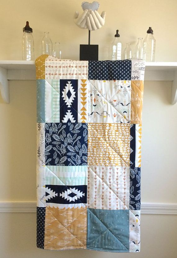 Hey, I found this really awesome Etsy listing at https://www.etsy.com/listing/231839107/baby-quilt-boy-wanderer-patchwork-dark