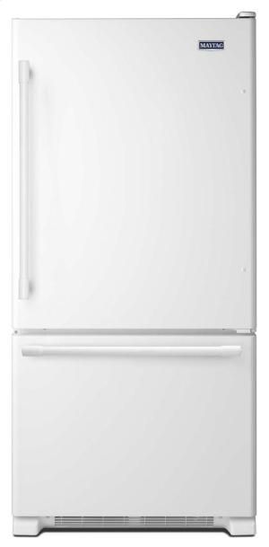 MBF1958FEW in White by Maytag in Denver, CO - 30-inch Wide Bottom Mount Refrigerator - 19 Cu. Ft.