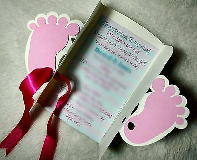 10-Baby-Shower-invitations-cards-personalized-Blue-Feet-design-for-Boy
