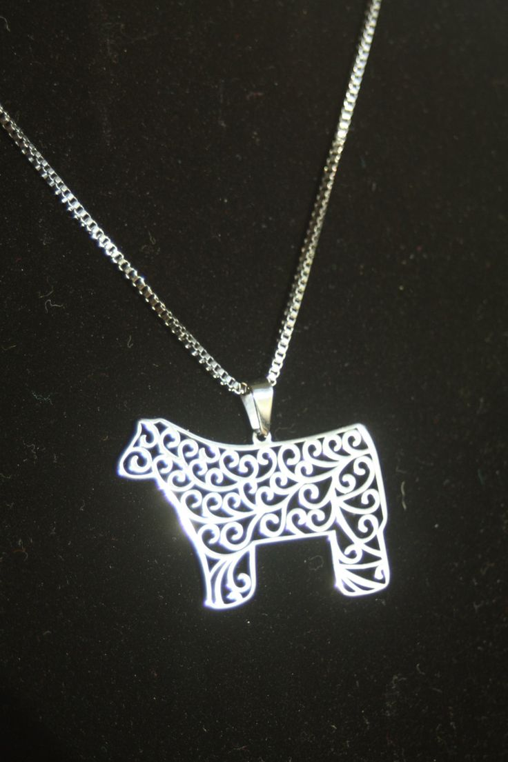 Stainless steel Show steer filigree pendant for necklace by TheBrandedBarn on Etsy https://www.etsy.com/listing/212875278/stainless-steel-show-steer-filigree